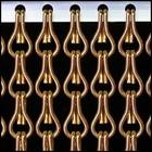 Kettinggordijn Liso ® Kettinggordijn Bruin/brons: Op maat gemaakt   Prijs per m²