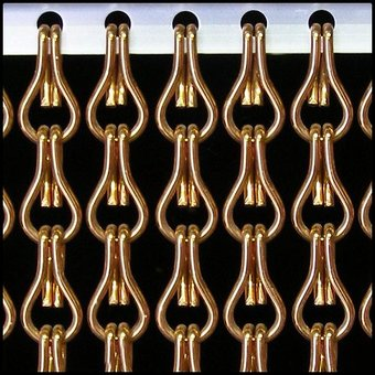 Kriska ® Kette Vorhang | Fly Vorhang Braun / Bronze: Maßgeschneidert | Preis pro m²