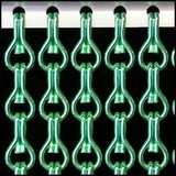 Kettinggordijn Liso ® Kettinggordijn Lichtgroen: Op maat gemaakt | Prijs per m²