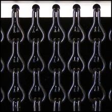Kettinggordijn Liso ® Kettinggordijn Zwart: Op maat gemaakt | Prijs per m²