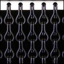 Kriska ® Kettinggordijn Zwart: Op maat gemaakt | Prijs per m²