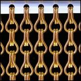 Kettinggordijn Liso ® Kettenvorhang Orange: Sonderanfertigung | Preis pro m²