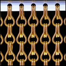 Kettinggordijn Liso ® Kettenvorhang Orange: Maßanfertigung Preis pro m²