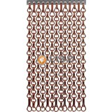 Kettinggordijn Liso ® Extra enger Kettenvorhang Braun / Bronze: Sonderanfertigung | Preis / m²