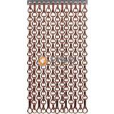 Kettinggordijn Liso ® Extra geschlossener Kettenvorhang Braun: Maßanfertigung | Preis / m²