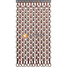Kettinggordijn Liso ® Extra dicht kettinggordijn Bruin: Op maat gemaakt | Prijs/m²