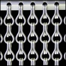 Kettinggordijn Liso ® ANGEBOT Kettenvorhang Silver Satin - fertig gemacht 100x230 cm
