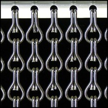 Kriska ® ANGEBOT Kettenvorhang Grau - fix und fertig 92x209 cm