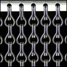 Kriska ® ANGEBOT Kettenvorhang Anthrazit grau - fix u. fertig 100x230 cm