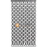 Kettinggordijn Liso ® Extra geschlossener Kettenvorhang Grau: Maßanfertigung | Preis / m²
