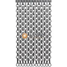 Kriska ® Extra enger Kettenvorhang Grau : Maßgeschneidert | Preis pro m²