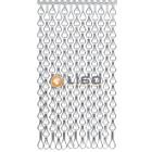 Kettinggordijn Liso ® Extra dicht kettinggordijn Zilver: Op maat gemaakt   Prijs/m²