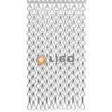 Kettinggordijn Liso ® Extra dicht kettinggordijn Zilver: Op maat gemaakt | Prijs/m²