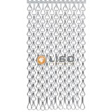 Kettinggordijn Liso ® Extra enger Kettenvorhang Silber: Maßanfertigung Preis / m²