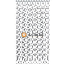 Kriska ® Extra enger Kettenvorhang Silber: Maßanfertigung Preis / m²