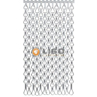 Kriska ® Kettenvorhang | Fliegenvorhang Silber extra geschlossen hängend: Maßanfertigung Preis / m²