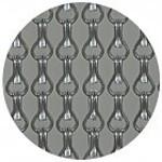 Kriska ® Kettenvorhänge [anodisiertem Aluminium] Volltonfarbe