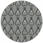 Kriska ® Kettinggordijnen [geanodiseerd aluminium] Effen van kleur