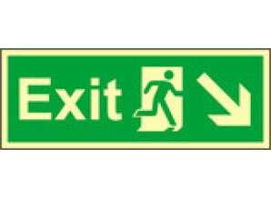 Exit Right, Down