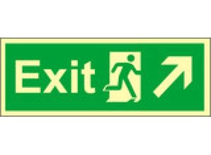 Exit Right, Up