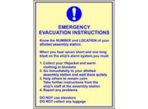 Emergency Evacuation Instruction