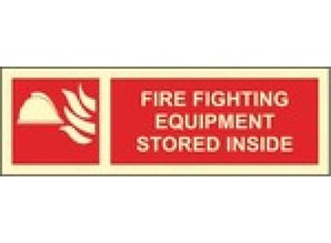 Fire Fighting Equipment Stored Inside