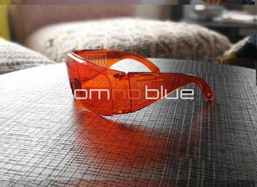 Blauw licht filter bril  (voor brildragers) fit-over SB-F1