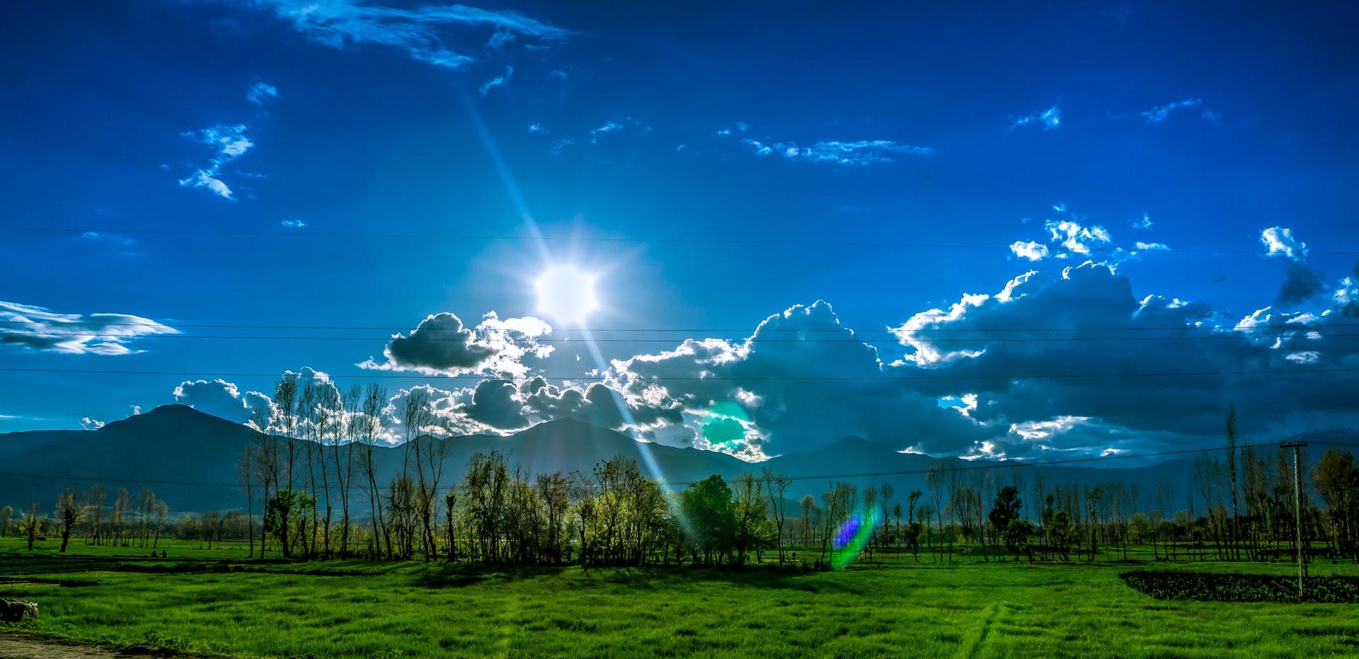 Blauw licht is het seintje van de nieuwe dag