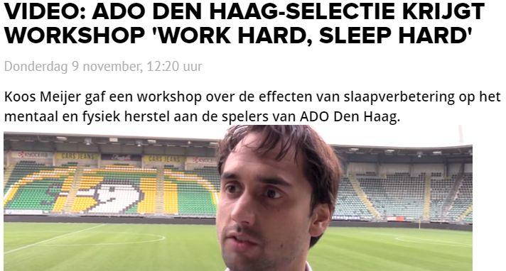 Somnoblue bij de selectie van ADO Den Haag