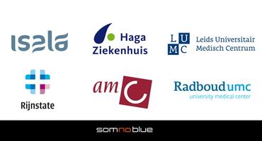 Somnoblue bij  de IC afdelingen van het LUMC, AMC, Isala en UMC Utrecht