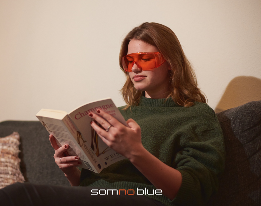 Blue light filtering glasses (for people who  wear glasses) Fit-over SB-F1