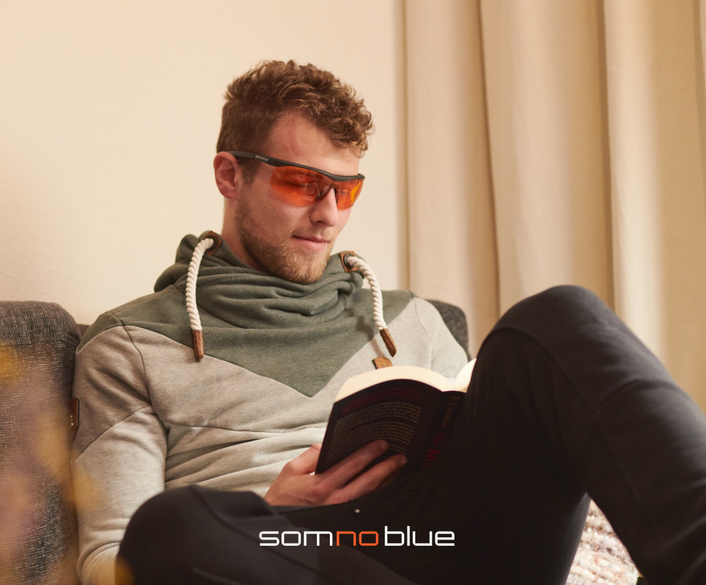 Somnoblue slaapbril blauw licht blokkerende bril  Slaapbril SB-1