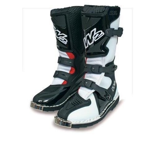 W2 Boots Motorcrosslaars Youth-X Zwart/Wit