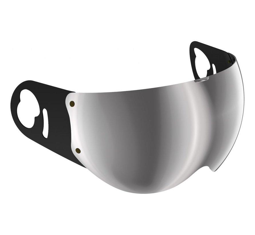 Boxer V8 spiegel vizier zilver