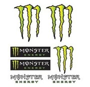 Booster stickerset Monster Energy