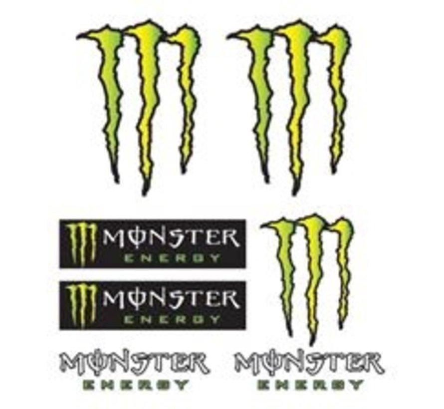 Booster stickerset Monster Energy