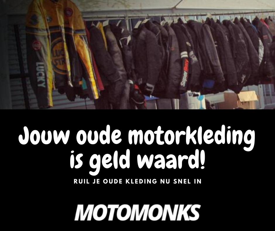 Jouw oude motorkleding is geld waard