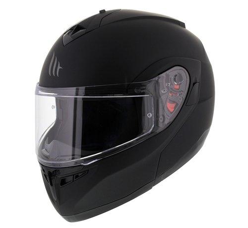 MT-Helmets Optimus Systeem Mat Zwart