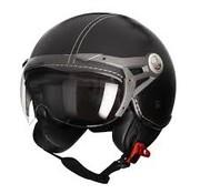 MT-Helmets Soul Retro Leer Zwart
