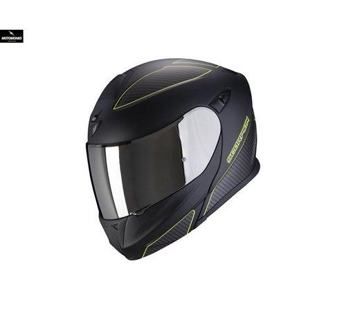Scorpion EXO-920 Flux Zwart Mat Neon Geel systeemhelm