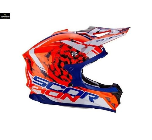 Scorpion VX-15 Kistune Orange Blue White crosshelm