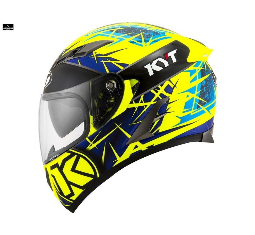 Kyt Falcon 2 Rift helm yellow blue