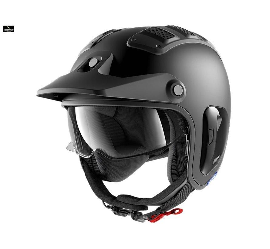 X-Drak Blank Mat Black Matte helm