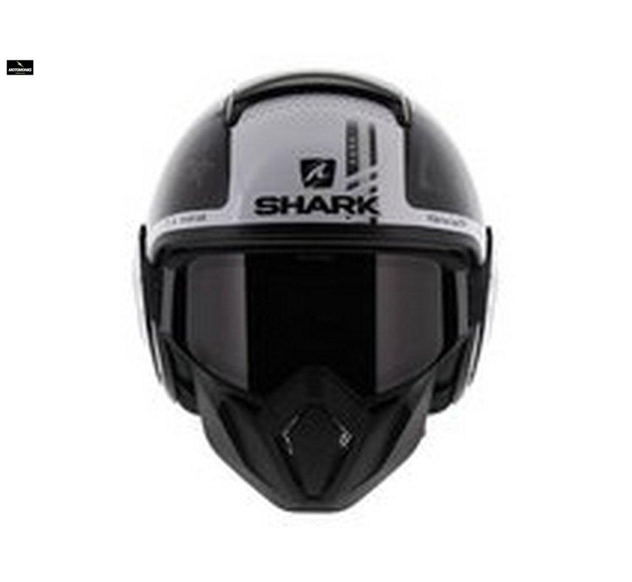Street Drak Tribute Zwart Wit helm