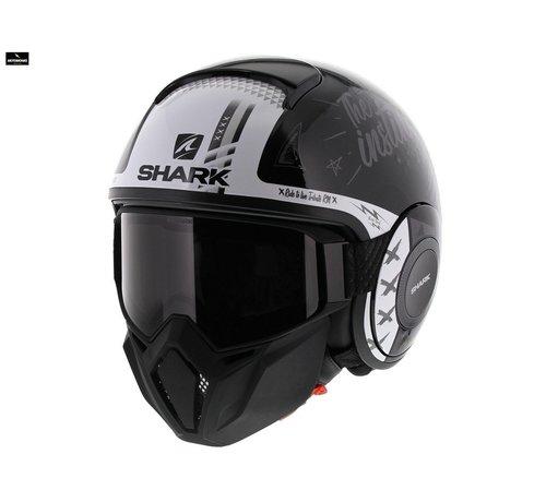 Shark Street Drak Tribute Zwart Wit helm