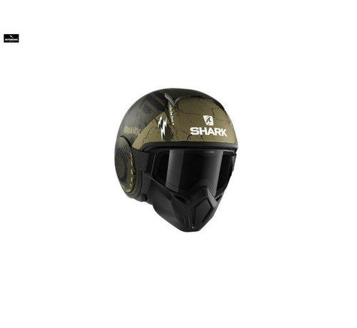 Shark Street Drak Crower Mat Zwart Groen helm