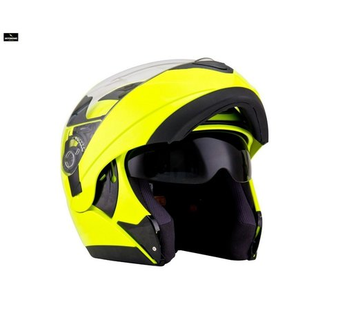 KYT Convair fluo yellow systeemhelm