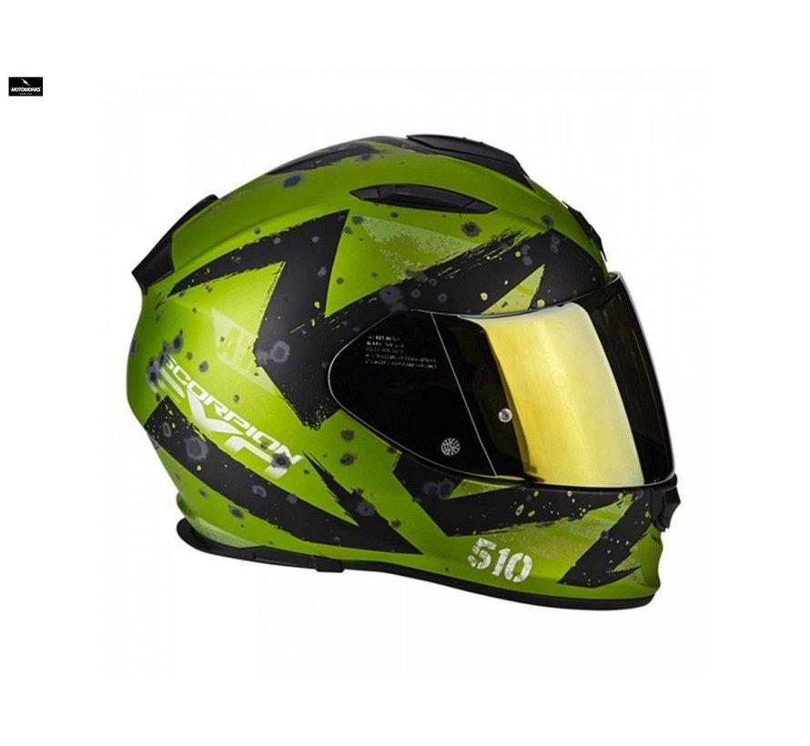 EXO-510 AIR MARCUS Matt Green-Black helm