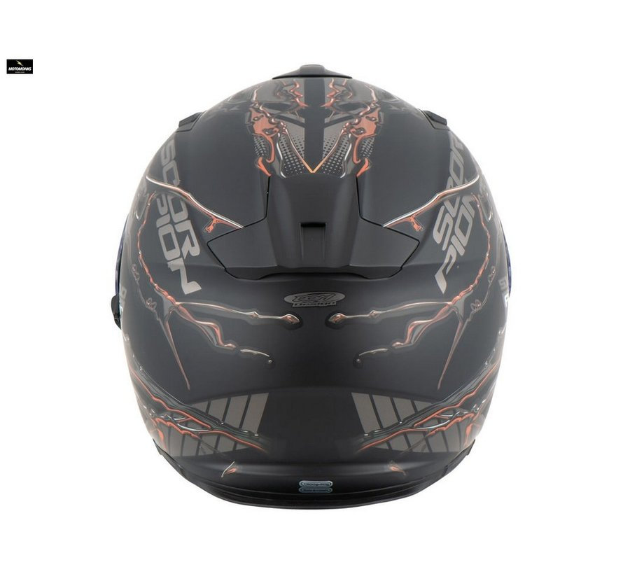 EXO-510 AIR LIKID Matt Black-Orange helm