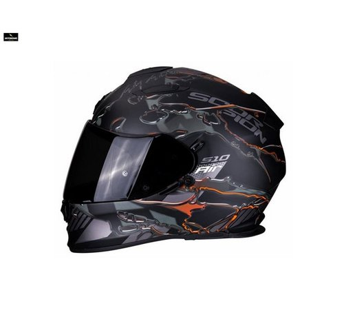 Scorpion EXO-510 AIR LIKID Matt Black-Orange helm